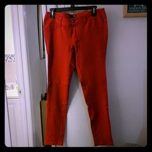 Express Red Skinny Jeggings